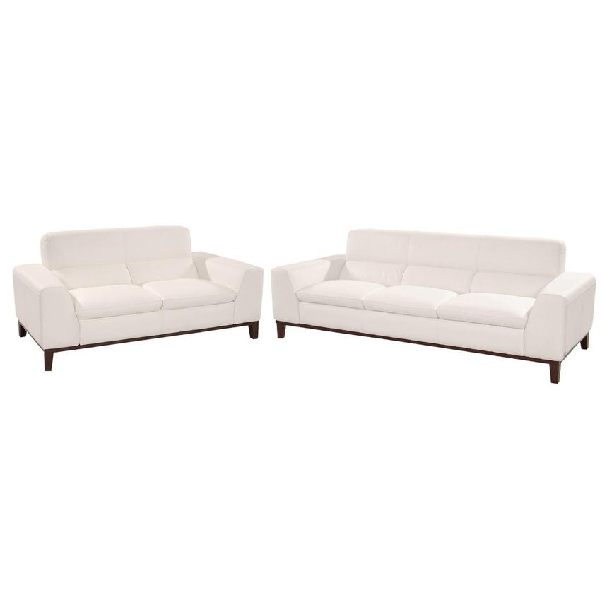 Milani White Living Room Set  main image, 1 of 3 images.
