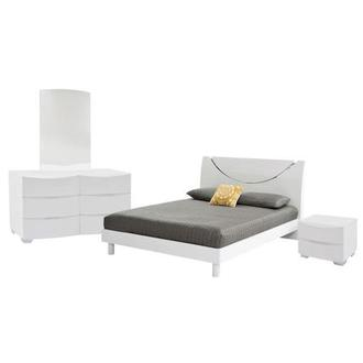 Jolie White 4-Piece Queen Bedroom Set