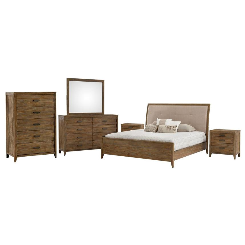 Turino 6-Piece King Bedroom Set  main image, 1 of 6 images.