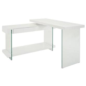 Cherish White L-Shaped Desk