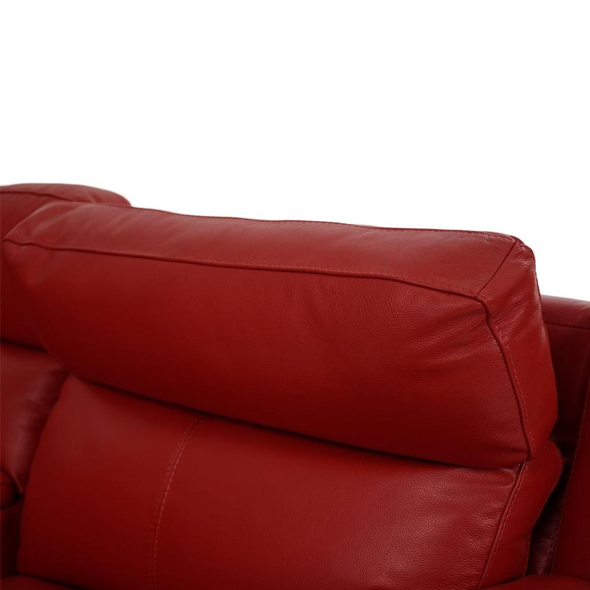Barry Red Home Theater Leather Seating  alternate image, 6 of 11 images.