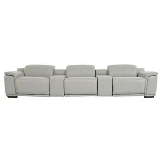 Davis 2.0 Light Gray Home Theater Leather Seating