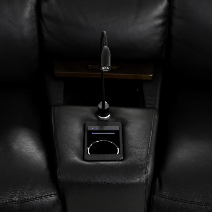 Jeremy Home Theater Leather Seating  alternate image, 11 of 16 images.