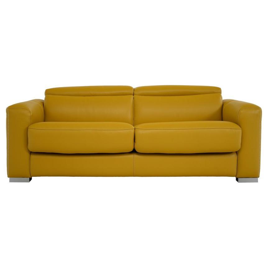 Bay Harbor Yellow Leather Sleeper El