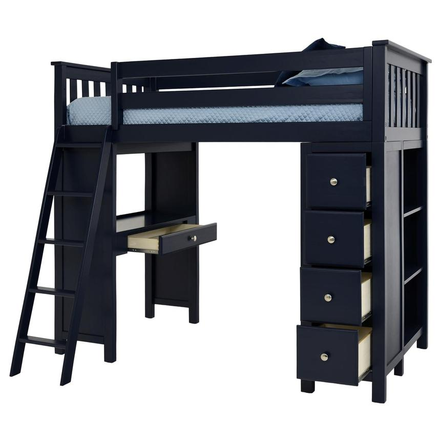 Haus Blue Twin Loft Bed w/Desk & Chest  alternate image, 6 of 14 images.