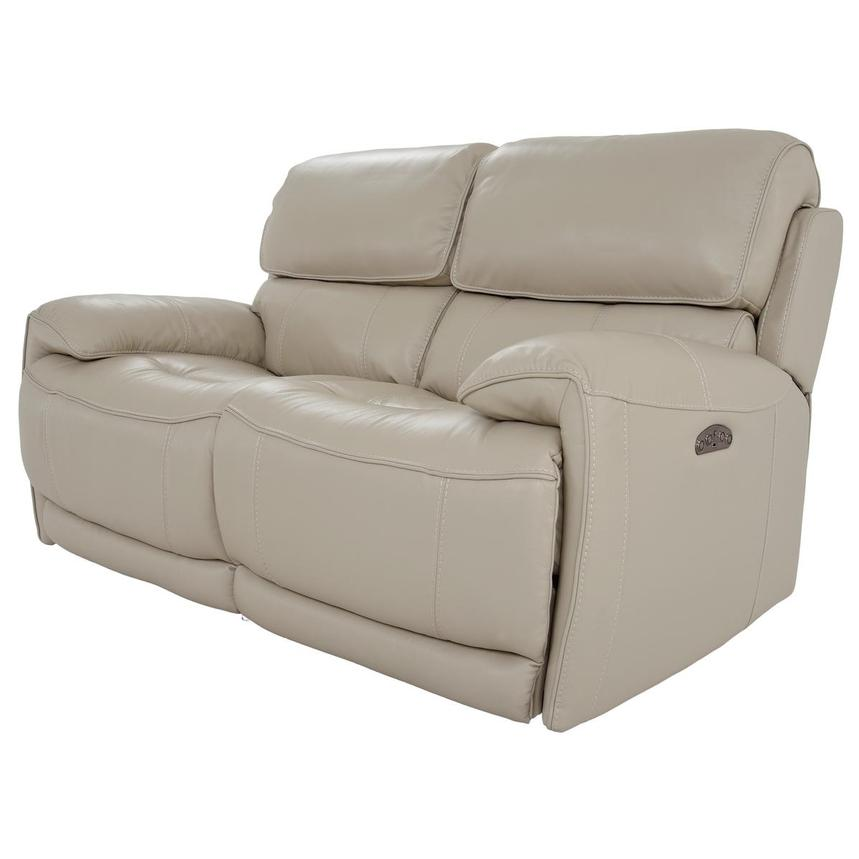 Cody Cream Leather Power Reclining Loveseat  alternate image, 2 of 11 images.
