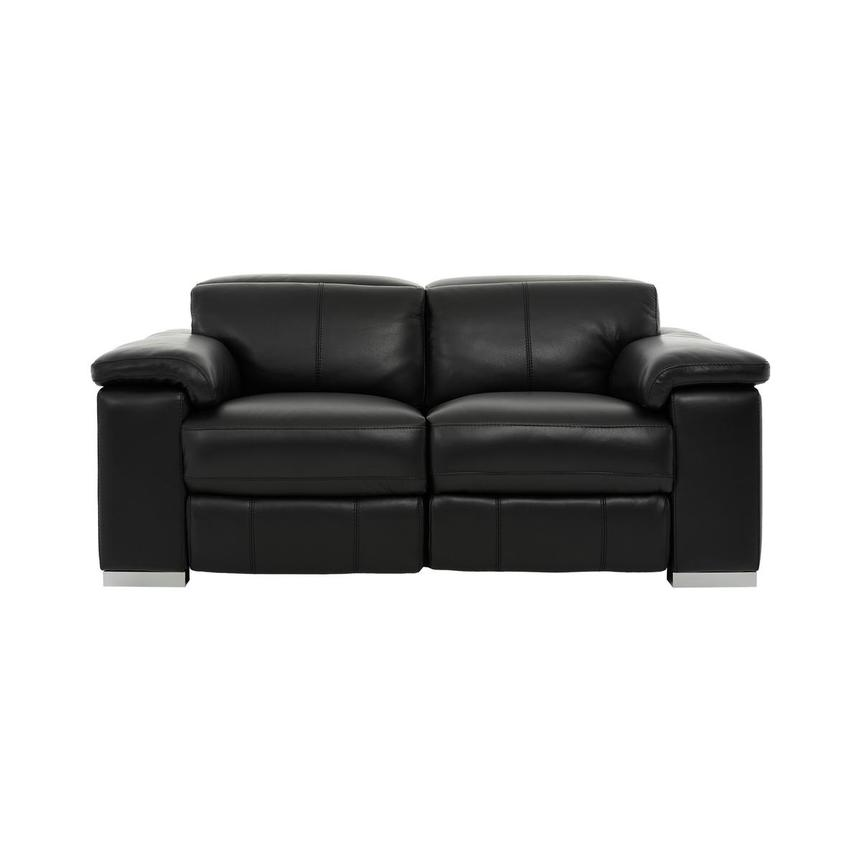 Charlie Black Leather Power Reclining Loveseat  main image, 1 of 11 images.