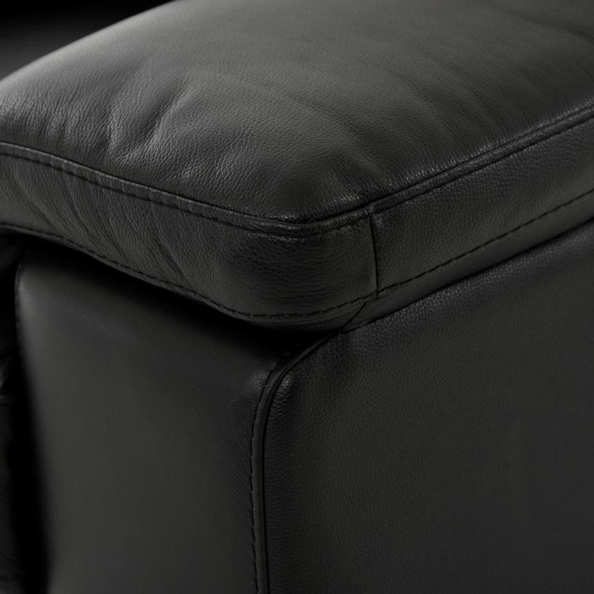 Charlie Black Leather Power Reclining Loveseat  alternate image, 8 of 12 images.