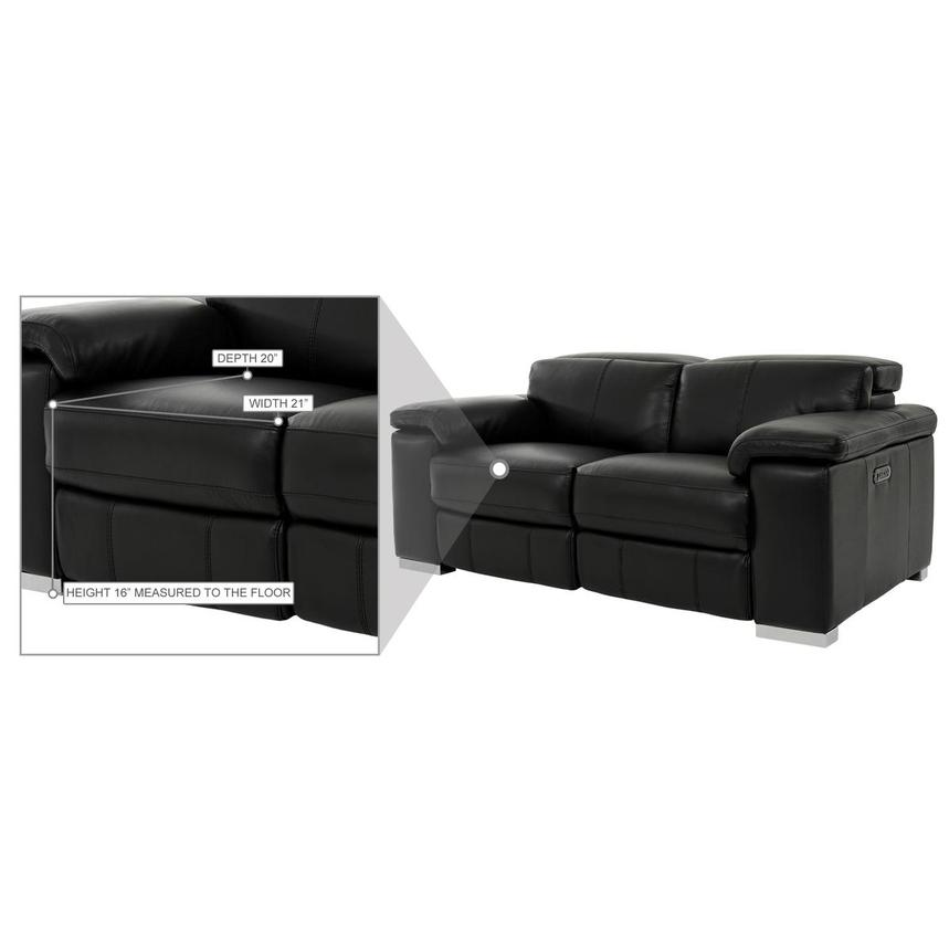 Charlie Black Leather Power Reclining Loveseat  alternate image, 11 of 11 images.