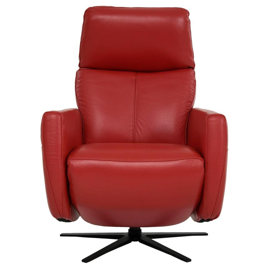 Kirk Red Power Motion Leather Recliner  alternate image, 2 of 10 images.