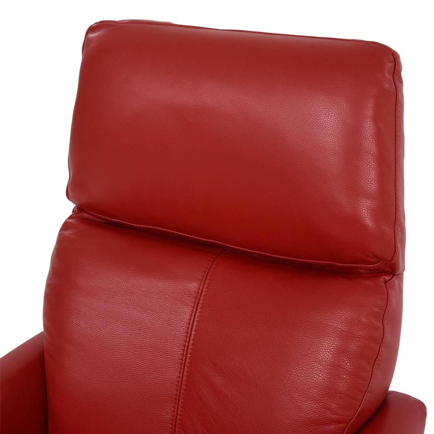 Kirk Red Power Motion Leather Recliner  alternate image, 7 of 10 images.