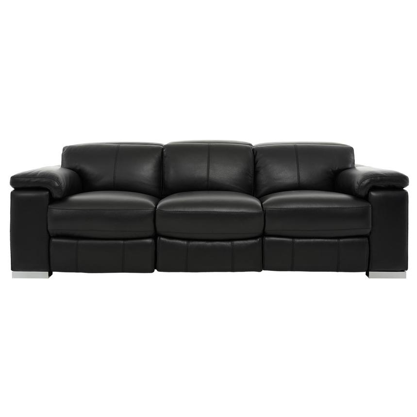Charlie Black Leather Power Reclining Sofa  main image, 1 of 11 images.