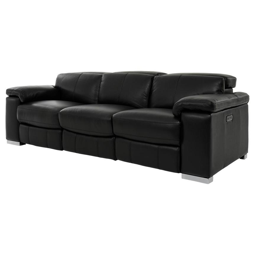 Charlie Black Power Motion Leather Sofa  alternate image, 2 of 10 images.