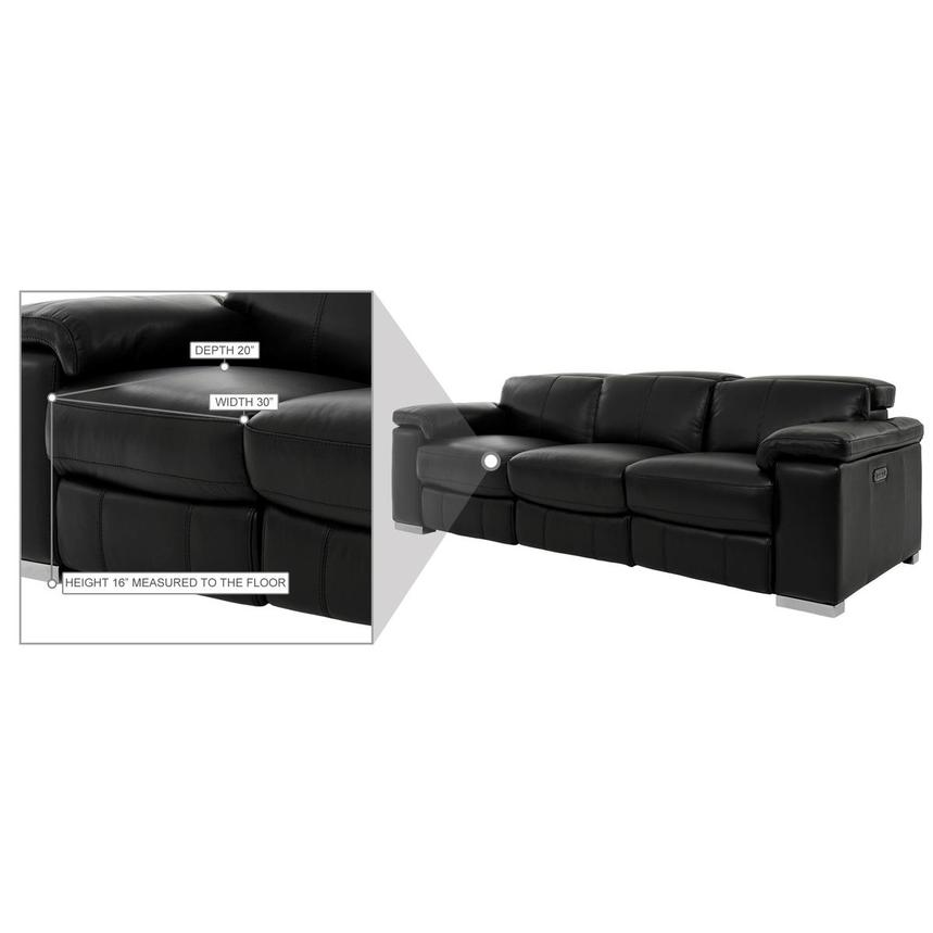 Charlie Black Leather Power Reclining Sofa  alternate image, 11 of 11 images.