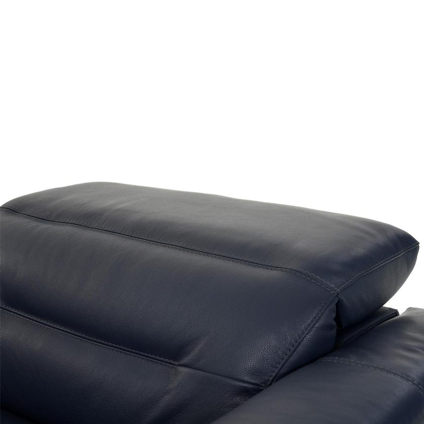 Anabel Blue Leather Power Reclining Sectional  alternate image, 6 of 8 images.