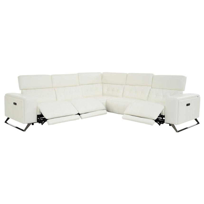 Anchi Leather Power Reclining Sectional  alternate image, 3 of 10 images.