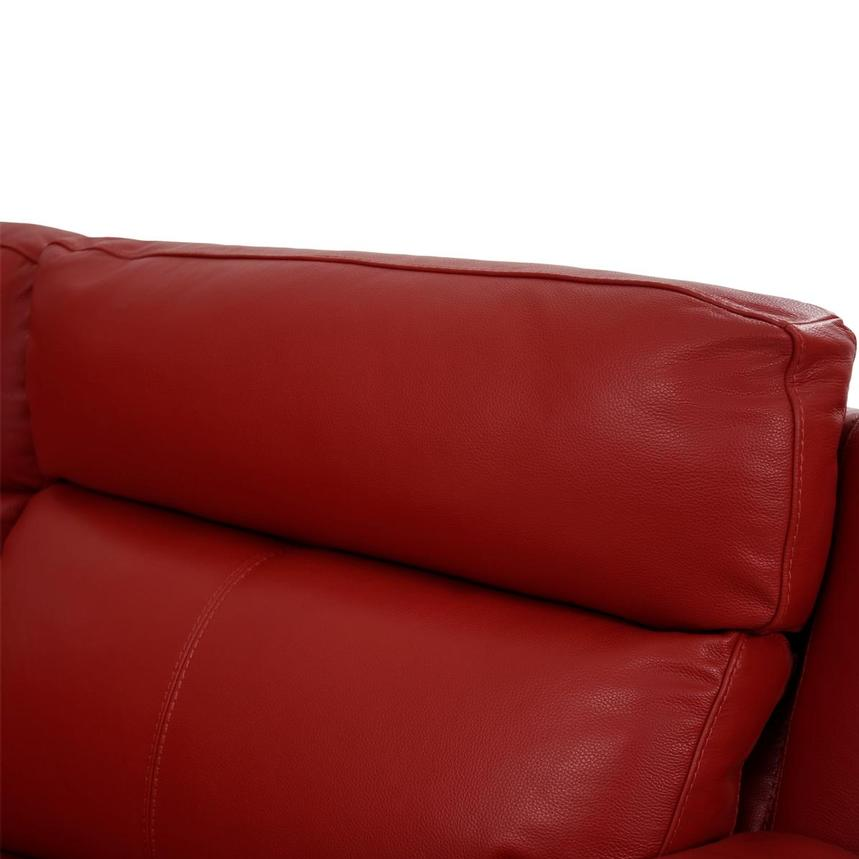 Barry Red Leather Power Reclining Sectional  alternate image, 6 of 8 images.