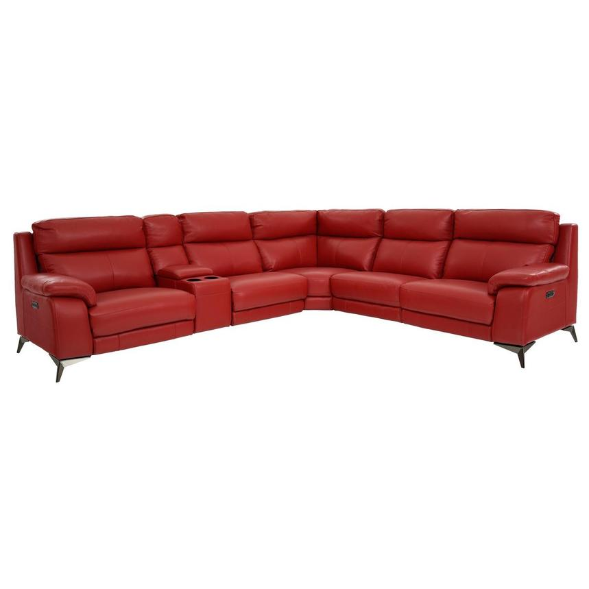 Barry Red Leather Power Reclining, Red Leather Reclining Sofa And Loveseat