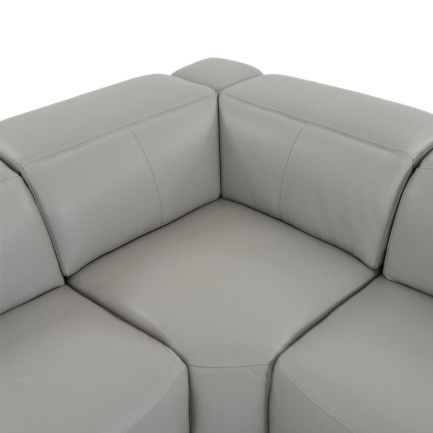 Davis 2.0 Light Gray Leather Power Reclining Sectional  alternate image, 7 of 10 images.