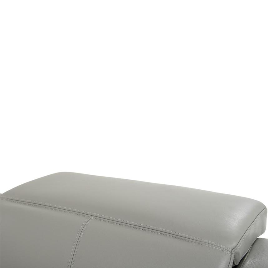 Davis 2.0 Light Gray Leather Power Reclining Sectional  alternate image, 6 of 11 images.