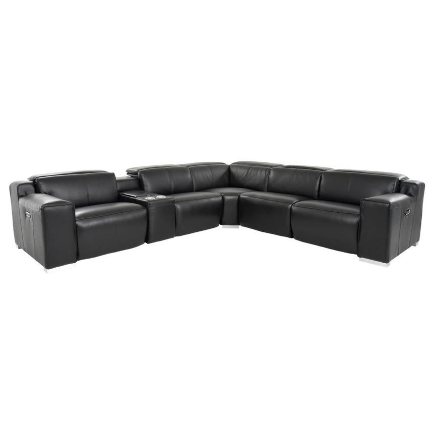 Jeremy Leather Power Reclining Sectional  main image, 1 of 12 images.