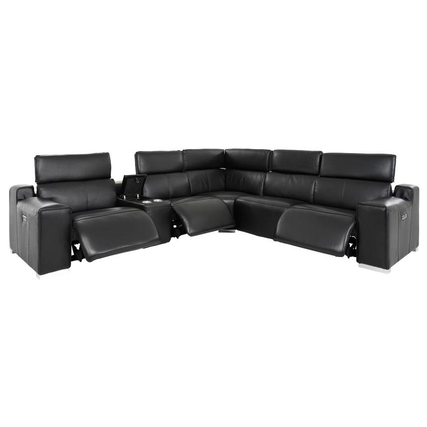 Jeremy Power Motion Leather Sofa w/Right & Left Recliners  alternate image, 2 of 10 images.
