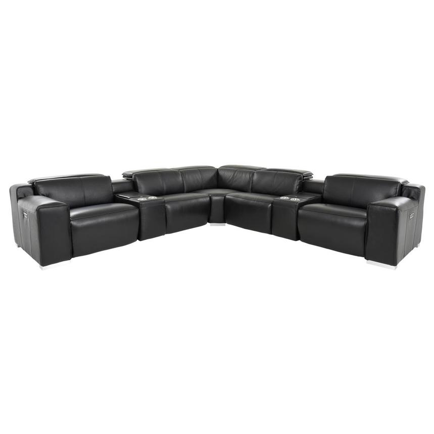 Jeremy Leather Power Reclining Sectional  main image, 1 of 11 images.
