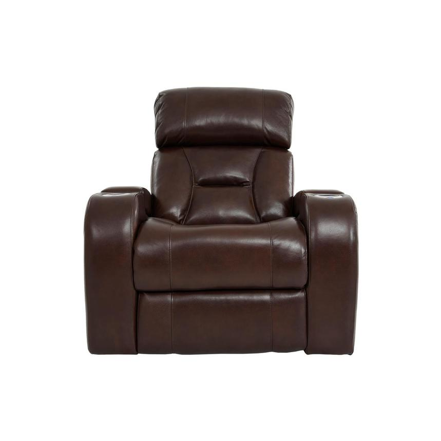 Gio Brown Leather Power Recliner  main image, 1 of 13 images.