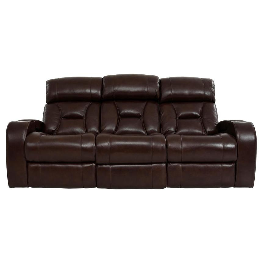 Gio Brown Leather Power Reclining Sofa  main image, 1 of 18 images.