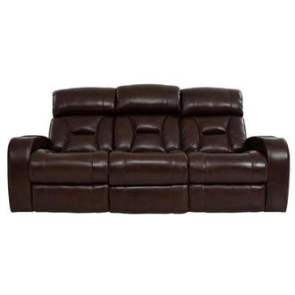 Gio Brown Power Motion Leather Sofa