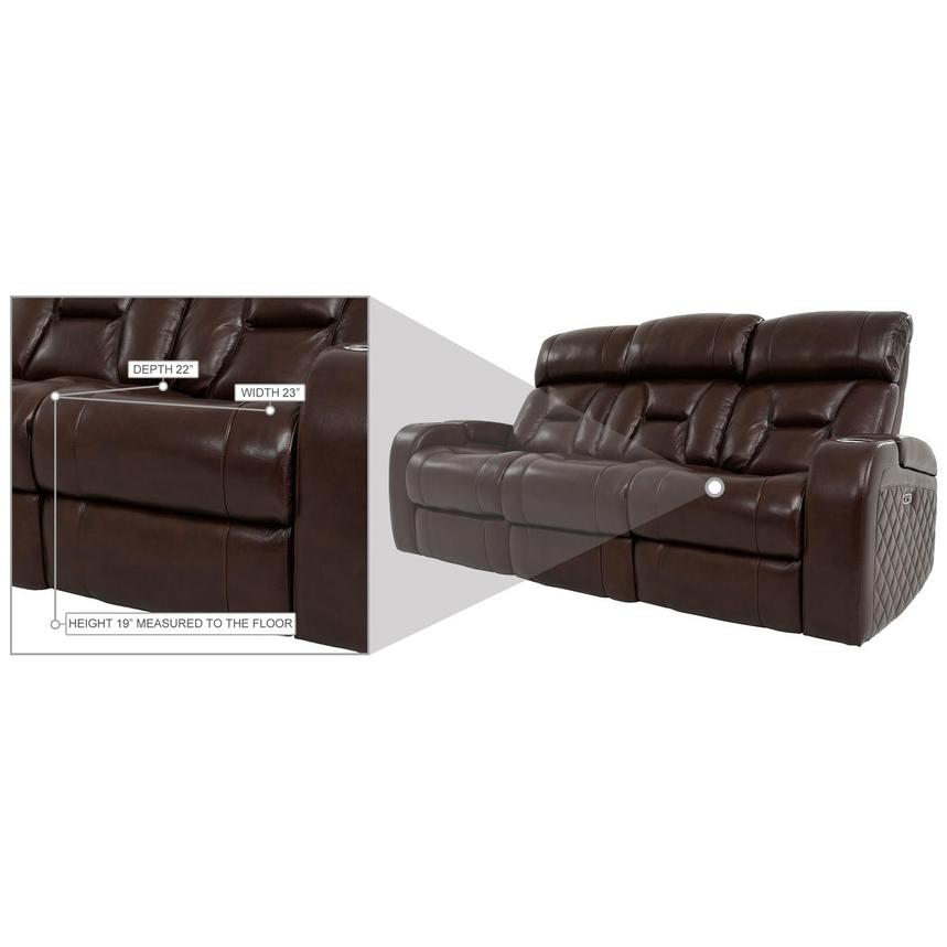 Gio Brown Leather Power Reclining Sofa  alternate image, 17 of 18 images.