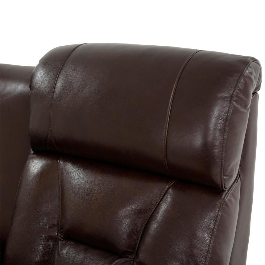 Gio Brown Leather Power Reclining Sofa w/Console  alternate image, 6 of 14 images.