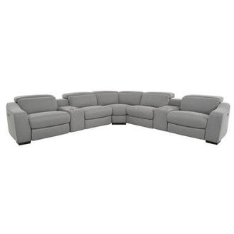 Jameson Light Gray Power Motion Sofa w/Right & Left Recliners