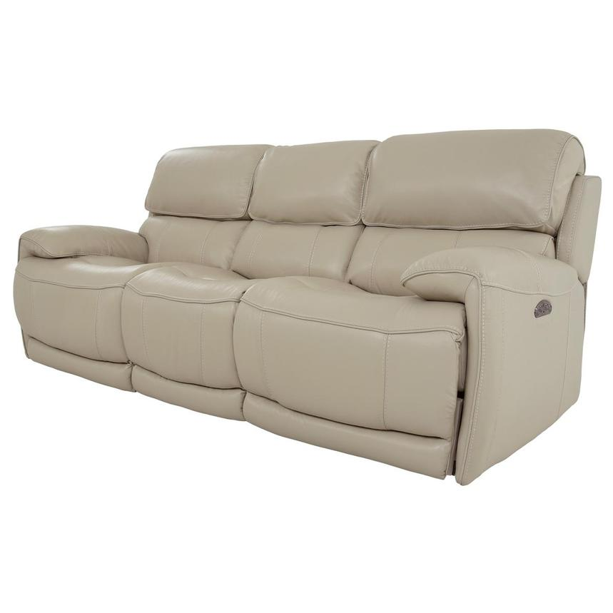 Cody Cream Leather Power Reclining Sofa  alternate image, 2 of 11 images.