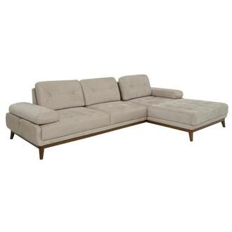 Pralin Cream Sofa w/Right Chaise
