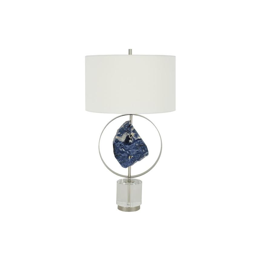 Blue Stone Table Lamp  main image, 1 of 7 images.