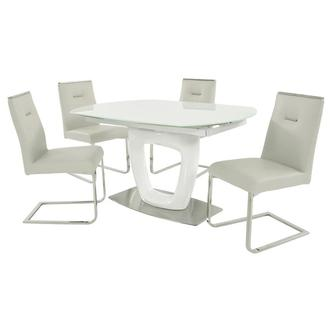Giuli/Stina White 5-Piece Formal Dining Set