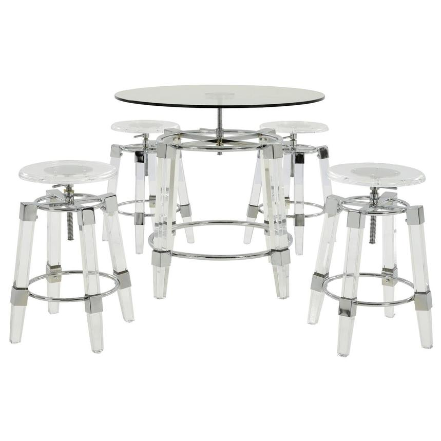 Julie Clear 5-Piece Casual Dining Set  main image, 1 of 12 images.
