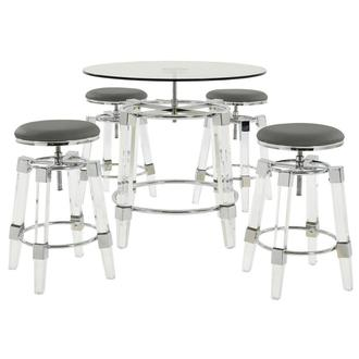 Julie Gray 5-Piece Counter Dining Set