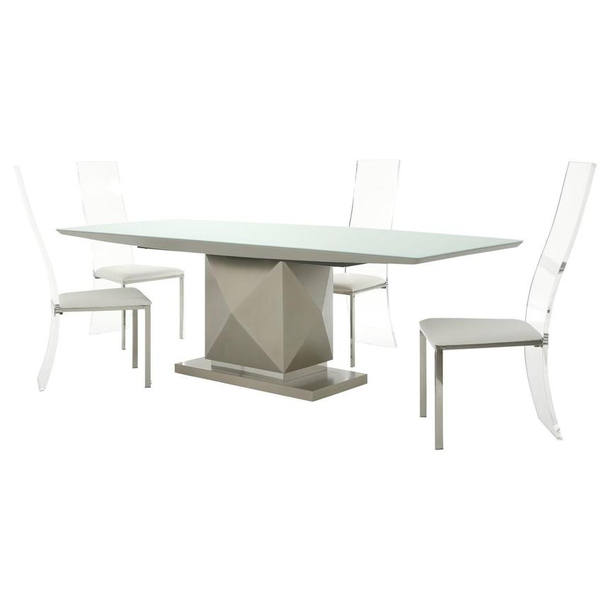 Marlon/Layra White 5-Piece Formal Dining Set  main image, 1 of 14 images.