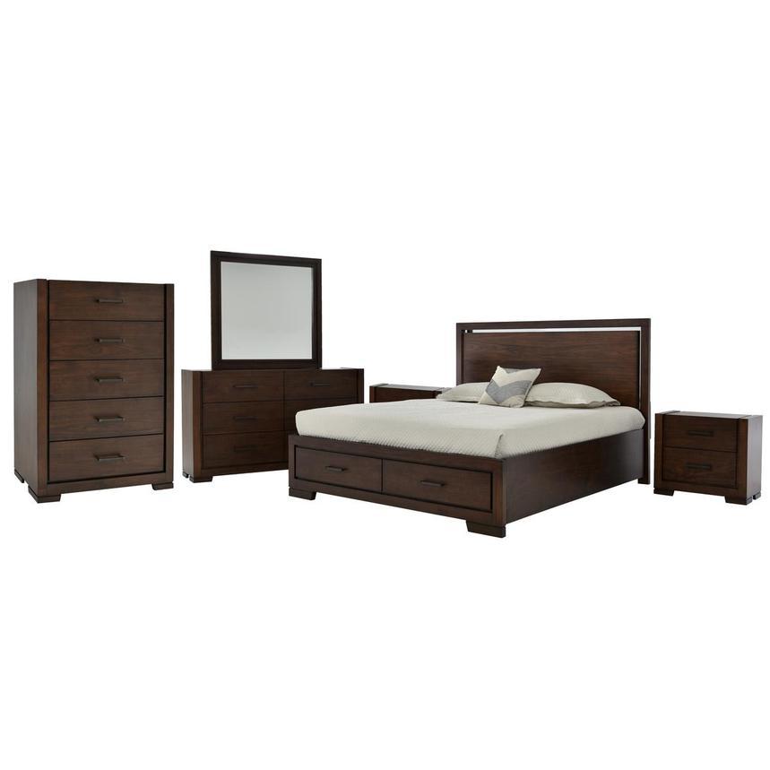 Allison 6 Piece King Bedroom Set El Dorado Furniture