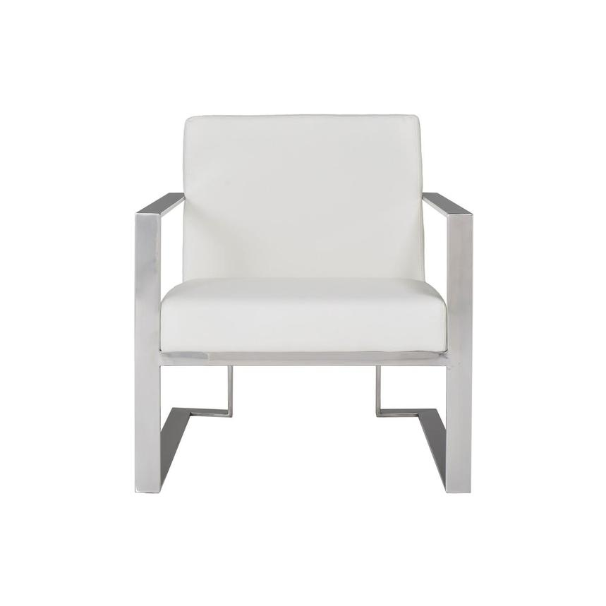 Ace White Accent Chair  main image, 1 of 8 images.