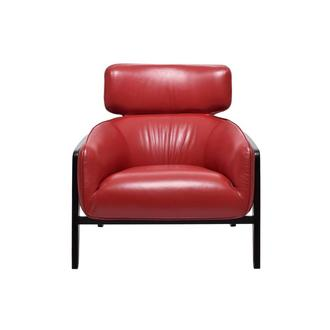 Irene II Red Leather Accent Chair