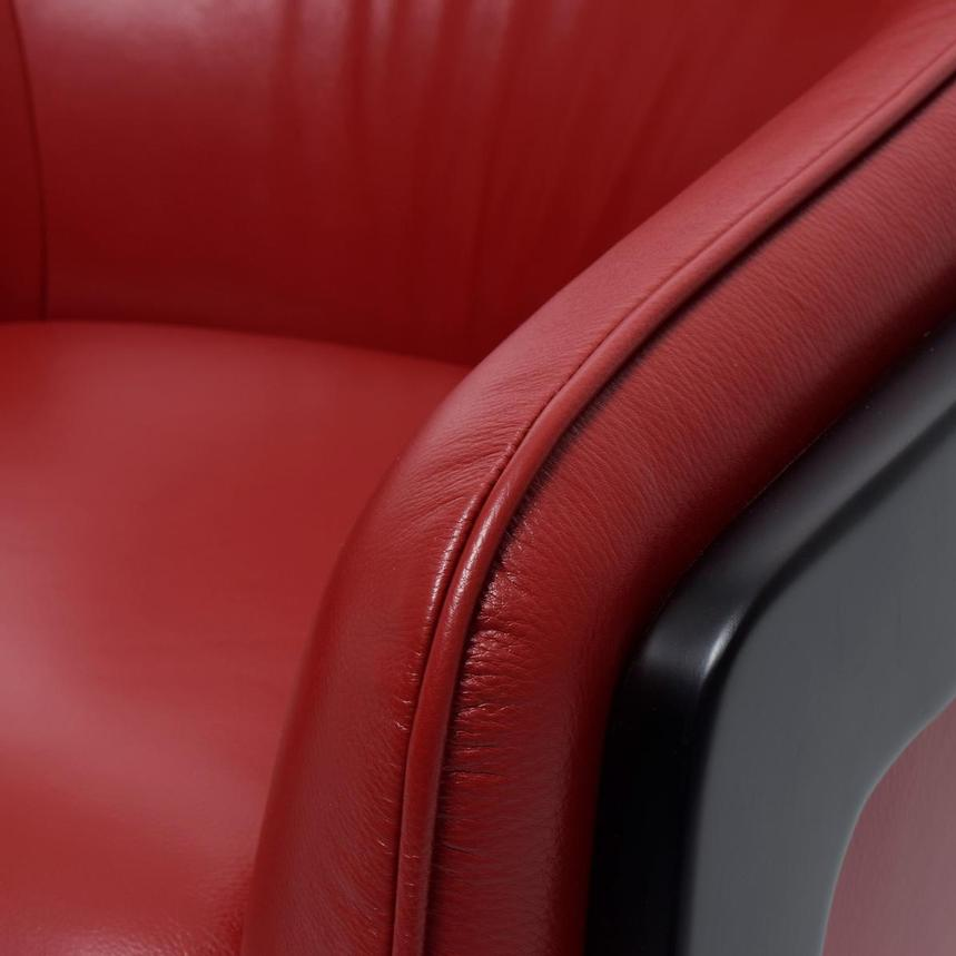 Irene II Red Leather Accent Chair  alternate image, 6 of 7 images.