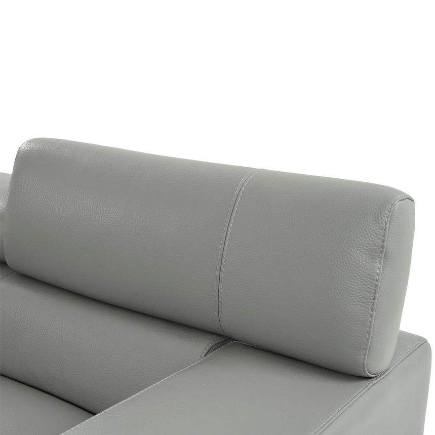 Grace Light Gray Leather Loveseat  alternate image, 6 of 9 images.