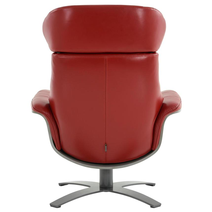Enzo II Red Leather Swivel Chair  alternate image, 6 of 13 images.