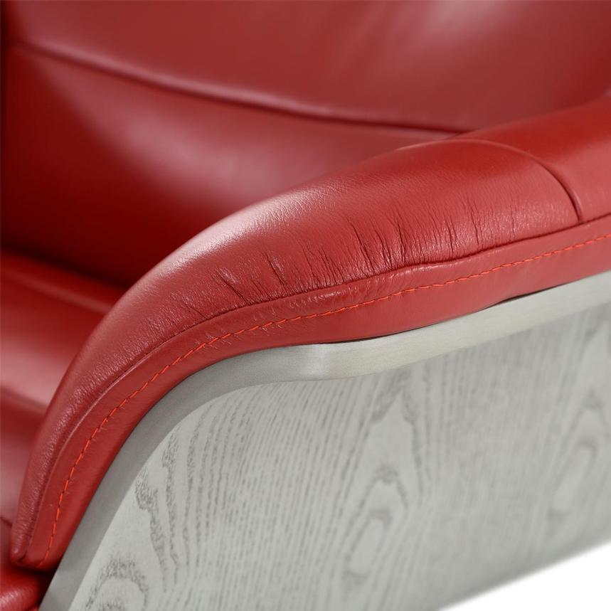 Enzo II Red Leather Swivel Chair  alternate image, 11 of 13 images.