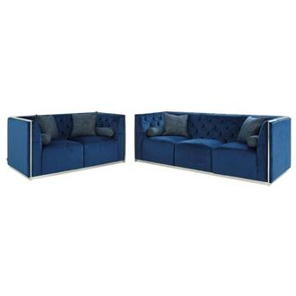 Emma Blue Living Room Set