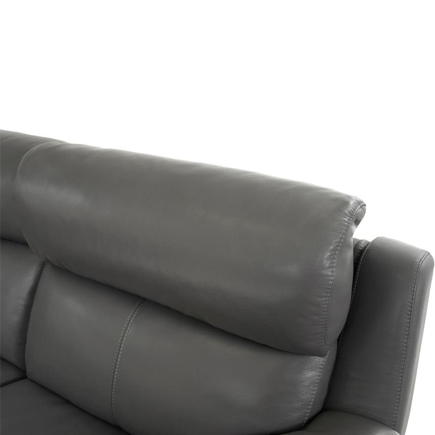 Matteo Gray Leather Power Reclining Sectional  alternate image, 6 of 11 images.