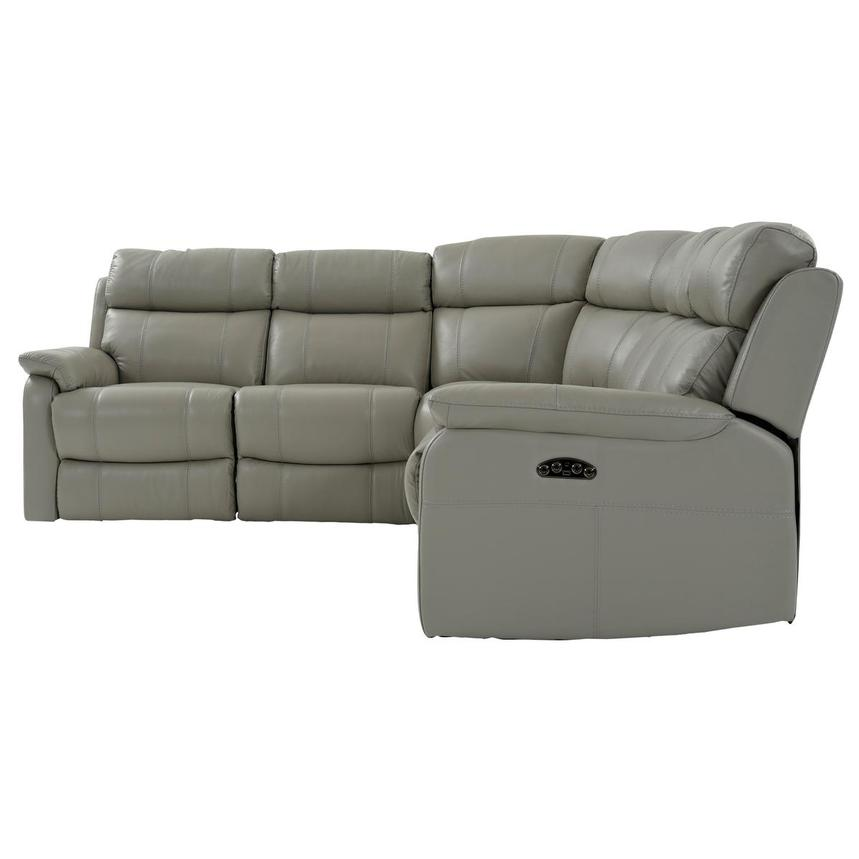 Ronald 2.0 Gray Leather Power Reclining Sectional  alternate image, 3 of 8 images.